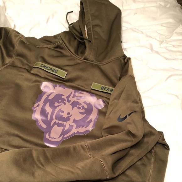 best service cce48 29dc4 Bears Salute to Service 2018 hoodie XL